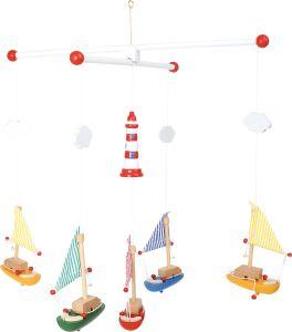 Mobile zeilboot en vuurtoren