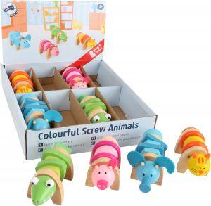 Kleurrijke schroefdieren